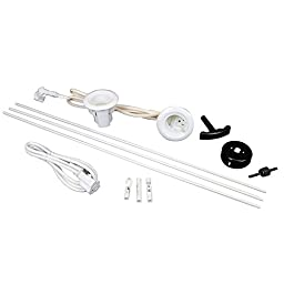 Wiremold Flat Screen TV Cord and Cable Power Kit