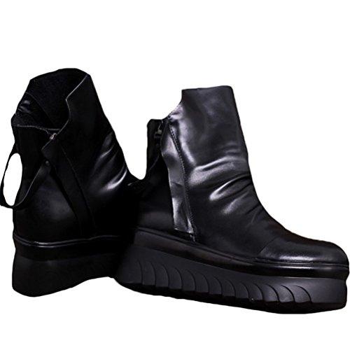 Mordenmiss Chaussures Des Femmes Occasionnels Printemps / Été Tirette Chaussures Plate-forme De Style 2-noir