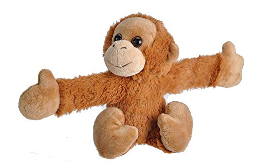 "Wild Republic Huggers Orangutan Plush Toy, Slap Bracelet, Stuffed Animal, Kids Toys, 8"""