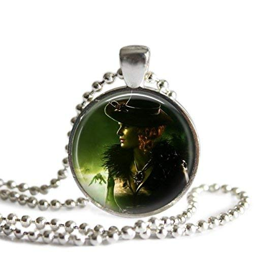 Zelena Once Upon A Time 1 Inch Silver Plated Pendant Necklace ()