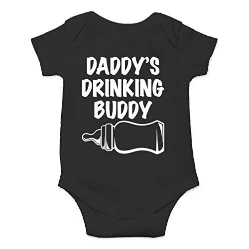 (Daddy's Drinking Buddy - My Father is My Best Friend - Cute One-Piece Infant Baby Bodysuit (Newborn, Black))
