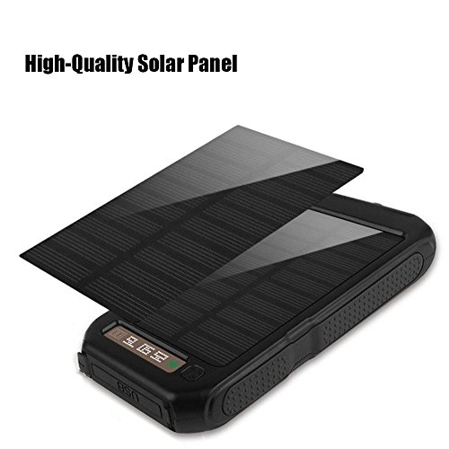 Xnuoyo Power Bank 10000mAh Waterproof Solar Charger with Dual USB Ports External Portable Charger Battery Pack for iPhone, iPad, Samsung, Nexus and Other Smartphones by Xnuoyo (Image #4)