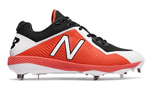 Black Metal Baseball Cleats - New Balance Men's L4040v4 Metal Baseball Shoe, Black/Orange, 11.5 D US
