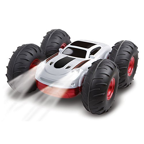Rc Stunt Vehicle (Toys for Kids | The Black Series RC Flip Stunt Rally with Remote Controller)