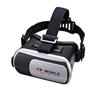 Virtual Reality Headset,3D VR Glasses,3D VR Helmet,VR Box for 3D Video Movies Games for Iphone, Andriod Samrtphones (Grey+Black)