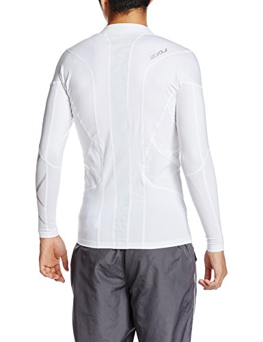 2XU Men's Elite Golf Long Sleeve Compression Top, White, Medium by 2XU (Image #2)