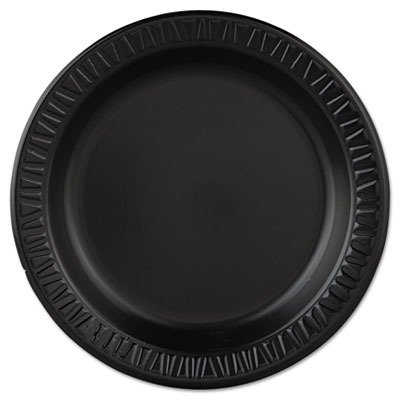 (Dart 9PBQR 9 in Black Laminated Foam Plate (Case of 500))