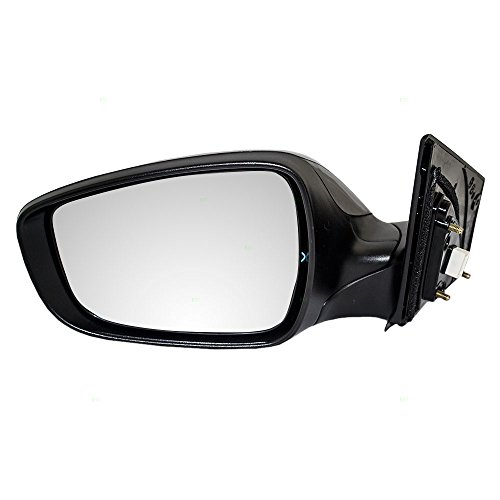 Drivers Power Side View Mirror Heated Smooth Replacement for Hyundai Elantra 87610-3X140 AutoAndArt