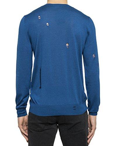 Alexander Mcqueen Homme 455963Q1RNX4201 Bleu Laine Maille