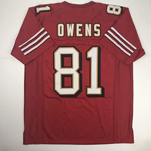 Unsigned Terrell Owens San Francisco Red Custom Stitched Football Jersey Size Men's XL New No Brands/Logos