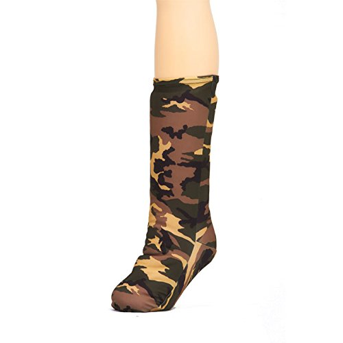 CastCoverz! Fashionable Leg Cast Cover - Camouflage Green - Large Short - Below The Knee - Protective, Decorative and Washable - Made in USA