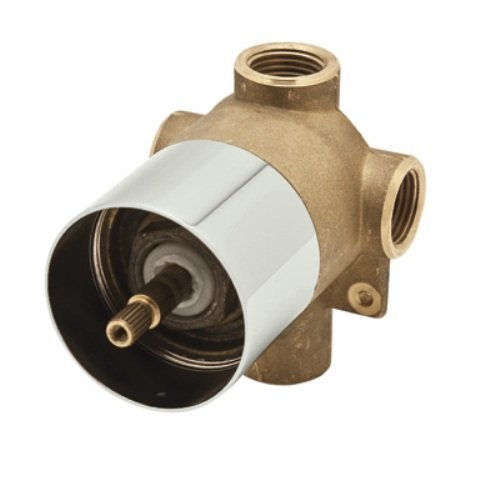 Rohl AC27-PN/BO Cisal Four Port Three Direction Diverter, Rough Body Only, Polished Nickel