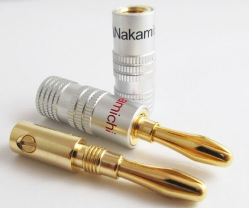 Efreecity® New 10 pcs 24K Gold Nakamichi Speaker Banana Plug Audio Jack Connector