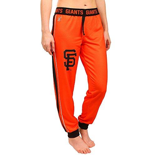 Klew San Francisco Giants MLB Womens Cuffed Jogger Pants, Orange