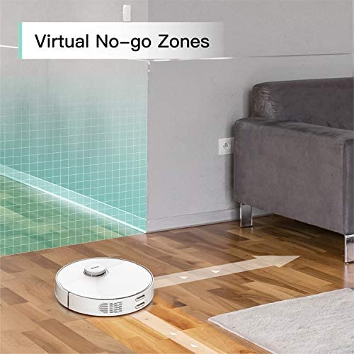 360 S5 LiDAR Robot Vacuum with Mapping Technology,2200Pa, Selective Room Cleaning, Schedule, Multi-Floor Mapping, No-Go Zones, Self Charge and Resume, Automatic Carpet Boost, Compatible with Alexa