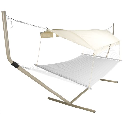 Pawley's Island Hammock Canopy with Tan/Natural Canopy Color and Taupe Support Poles by Pawley's Island