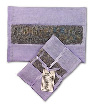 elizabethW 78629SET Lavender Pillow Insert Natural Linen- Set of 2