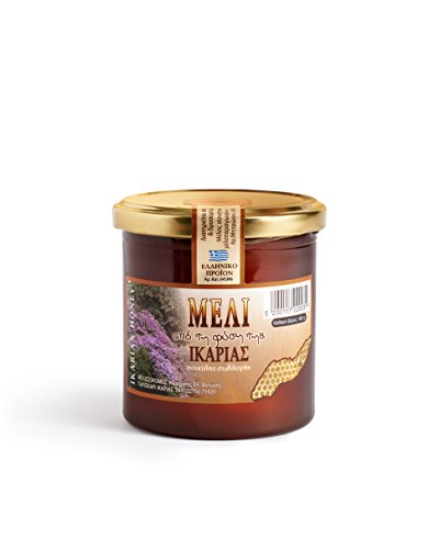 Ikaria Honey - 16oz From the mountains of the ancient healing island of Ikaria, Greece - a designated Blue Zone. Delicious Unique Flavor. Pure, Raw, Unheated.