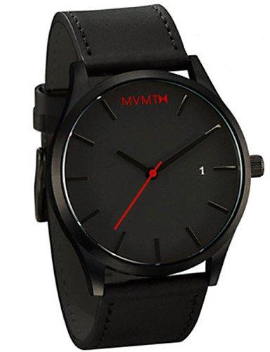 QFDZHS®mvmt relojes de cuarzo relojes de los hombres del deporte espectáculos relojes correa de cuero masculino masculino del reloj Relojes , brown: ...