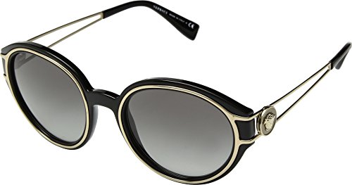 Versace Women's VE4342 Black/Pale Gold/Grey One Size from Versace