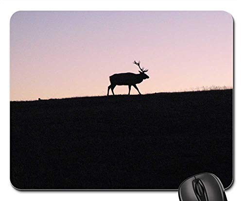 (Mouse Pad - Elk Mountain Mountain Meadow Sunset Sillhouette)