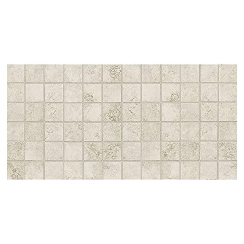 (Daltile Salerno Grigio Perla 12 in. x 24 in. x 6 mm Ceramic Mosaic Floor and Wall Tile (24 sq. ft. / case))