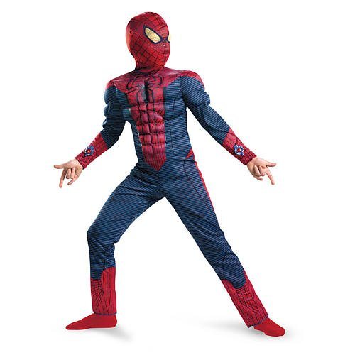 [The Amazing Spider-Man Muscle Halloween Costume - Child Size 7-8] (Amazing Spider Man Costumes 360)