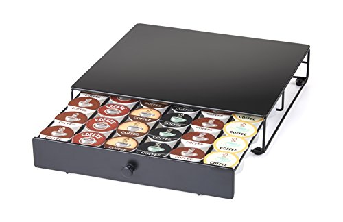 - Nifty Under the Brewer Coffee Pod Storage Drawer for K-Cup Pods. Holds 36 Coffee Pods