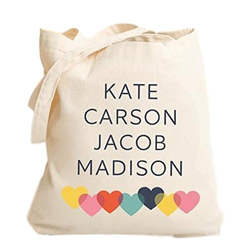Personalized Tote Bag for Women - Personalized Gifts for Mom and Grandma (Family Names, Modern Design)