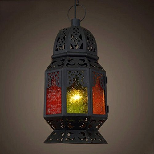 DIDIDD Ceiling Chandelier-Chandelier Creative Southeast Asia Thai Mediterranean Continental Morocco Palace Colored Chandelier ( Style : a ),A by DIDIDD