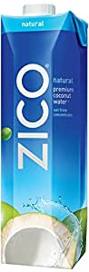 ZICO Premium Coconut Water, Natural, 33.8 fl oz (Pack of 6)