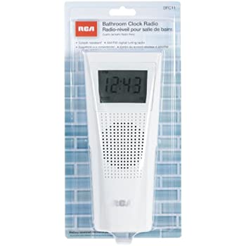 rca brc11 amfm bathroom clock radio - Bathroom Radio