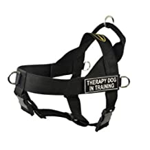 Dean & Tyler Universal No Pull Dog Harness, Therapy Dog In Training, Medium, Fits Girth, 66cm to 81cm, Black
