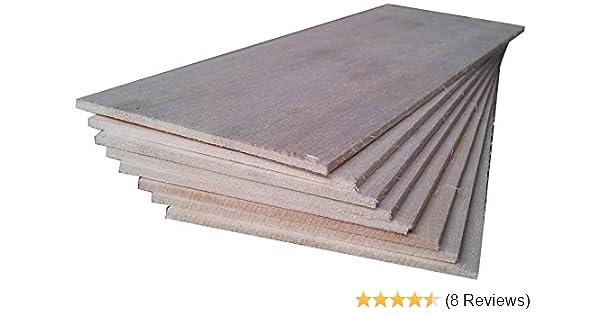 Amazon Com Balsa Wood 8 Sheets 18 X 4 X 1 8 460mm X 100mm X 3mm
