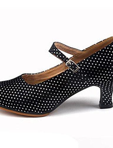 La mode moderne Sandales Chaussures de danse pour femmes personnalisables mousseux mousseux en cuir Cuir Glitter Paillettes talons Latin Jazz HeelPractice sur mesure,débutant,US7.5 Fuchsia/EU38/UK5.5/