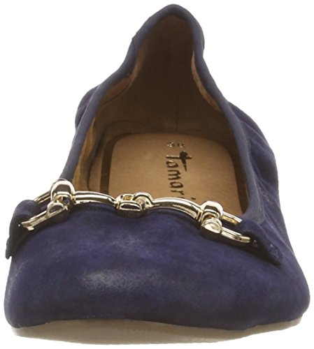 Mesdames Tamaris 22136 Ballerinas Fermés Bleu (bleu Marine Métallique 824)