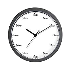 CafePress - The Now - Unique Decorative 10 Wall Clock