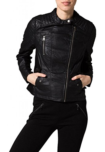 Junction Negro Mujer Chaqueta Leather Para fqna4wP