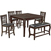 Best Master Furniture Betty Counter Height Set, Dark Cherry