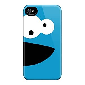 Protector Cell-phone Hard Cover For Iphone 6plus With Custom Realistic Cookie Monster Skin JasonPelletier