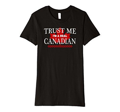 Womens Real Canadian Tshirt Funny Canada Maple Leaf Shirt Small - Real Canada Women