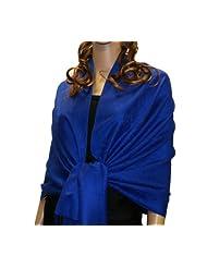 Fabulous Large Soft Pashmina Paisley Scarf Shawl Wrap (75 Colors to choose) (Royal blue 22)