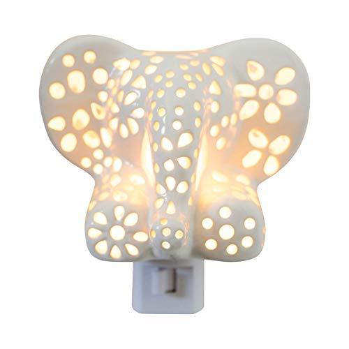 White Elephant NIGHTLIGHT for Children   Nursery Decor Gift for Baby Shower