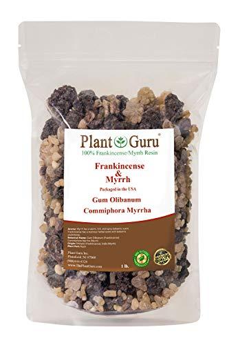 (Frankincense and Myrrh Resin 1lb 100% Pure Natural Olibanum and Commiphora Myrrha Rock Incense Gum Bulk)