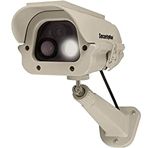 6. SecurityMan® Solar Powered IR Weatherproof Fake Dummy Surveillance Camera