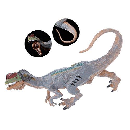 JAGENIE恐竜のアクションフィギュアのおもちゃの手の人形のDilophosaurusの子供の教育モデルクリスマスの新年の贈り物、1 PC、ランダム配信