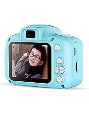 "Children Camera Digital Camera HD Mini 2.0"" 1080P Kids Gift Toy with 32G TF Card Card Reader Lanyard Data line Buggy Bag Blue"