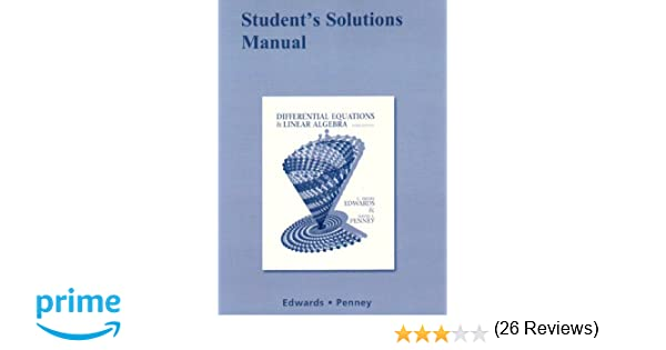 Student Solutions Manual for Differential Equations and Linear ...