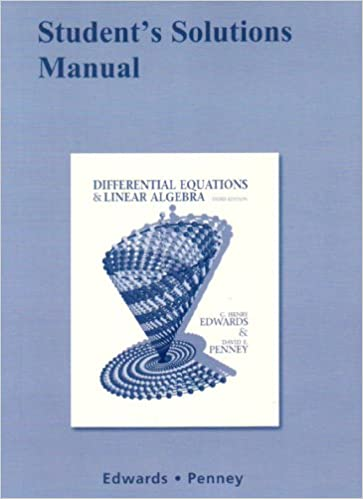 Student solutions manual for differential equations and linear student solutions manual for differential equations and linear algebra c henry edwards david e penney 9780136054276 amazon books publicscrutiny Choice Image