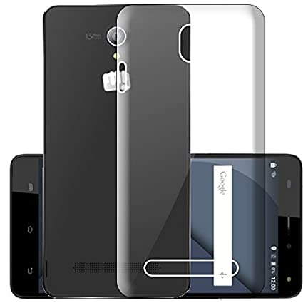 huge discount 1d56b ec044 ECellStreet Silicone Soft Back Cover for Micromax: Amazon.in ...